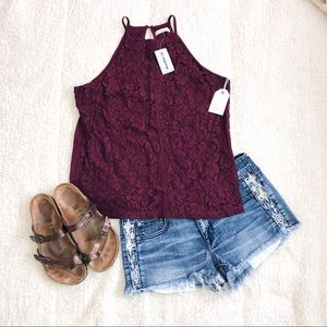 Tops - NWT lace tank top